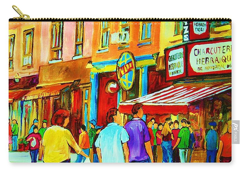 Cityscape Carry-all Pouch featuring the painting Lets Meet For Lunch by Carole Spandau