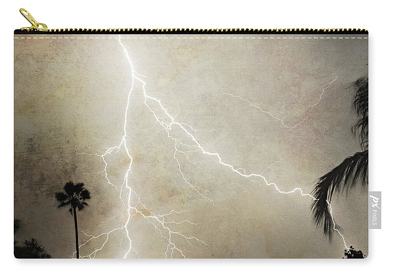 Lightning Carry-all Pouch featuring the photograph Let's Split by James BO Insogna