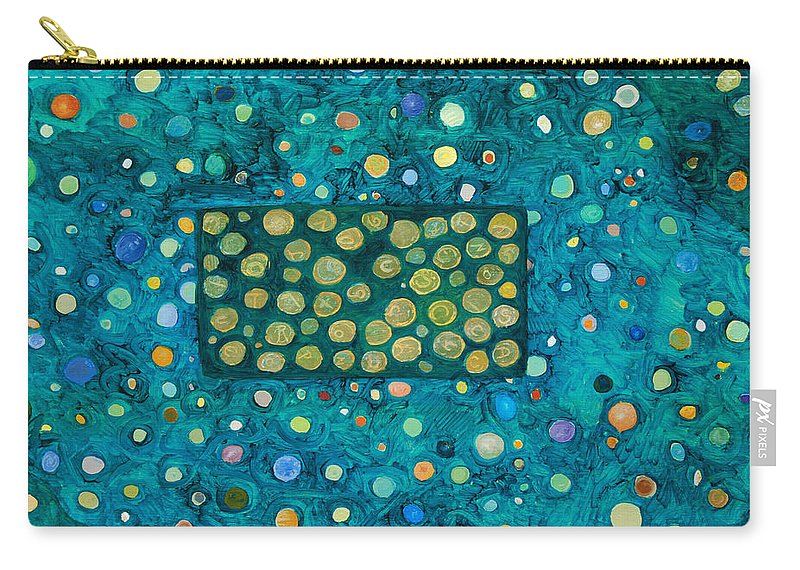Abstract Carry-all Pouch featuring the painting Letting Go by Ishwar Malleret