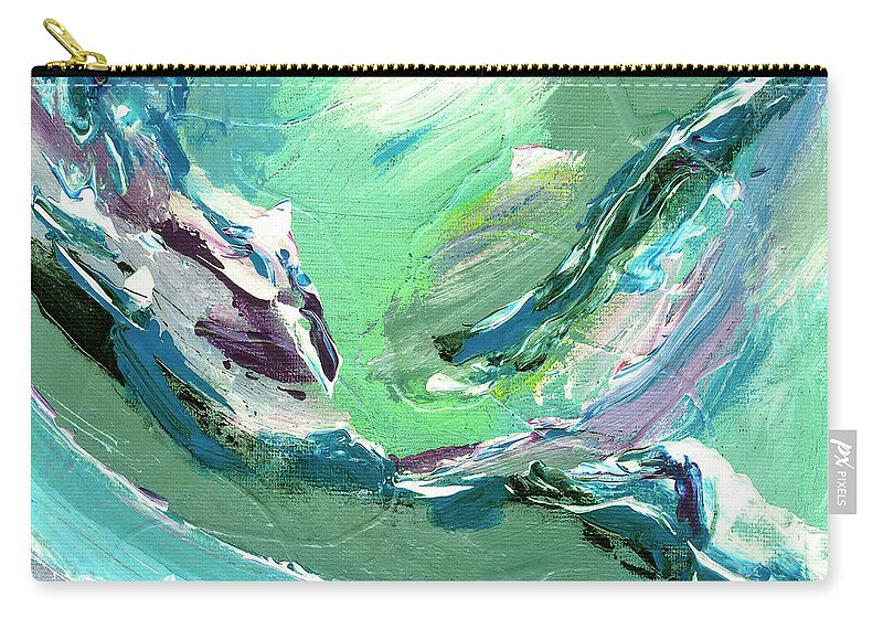 Abstract Carry-all Pouch featuring the painting Levee Breach by Dominic Piperata