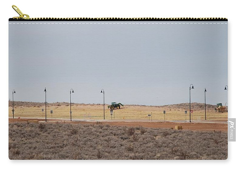 Trackor Carry-all Pouch featuring the photograph Levels Of Land by Rob Hans