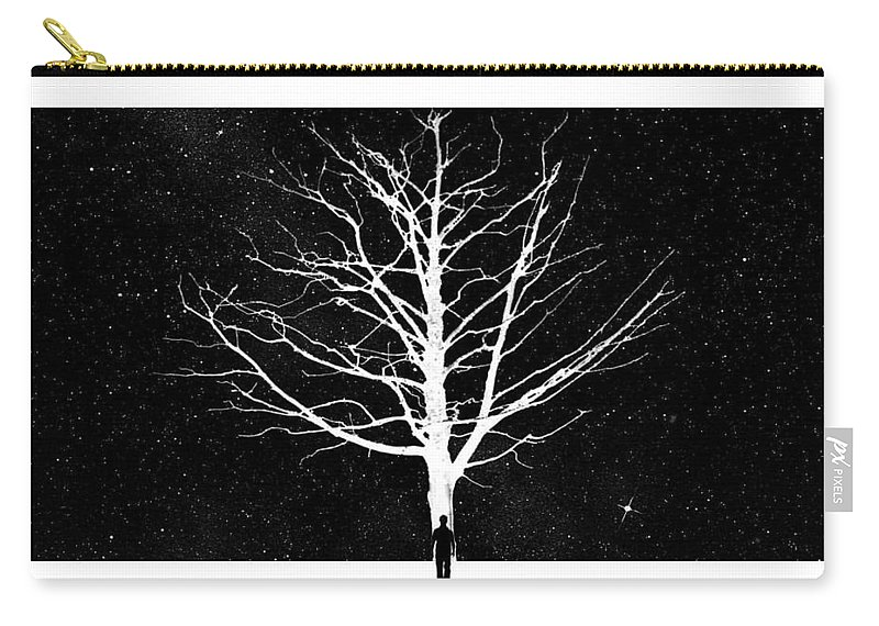 Art Carry-all Pouch featuring the digital art Leverything Is Temperory by Batin shahid Khan