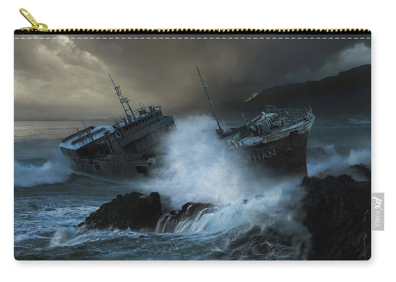 Sea Carry-all Pouch featuring the photograph Leviathan by Michal Karcz