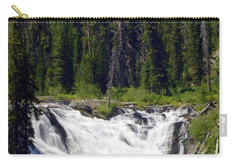 Lewis Falls Carry-all Pouch featuring the photograph Lewis Falls by Marty Koch