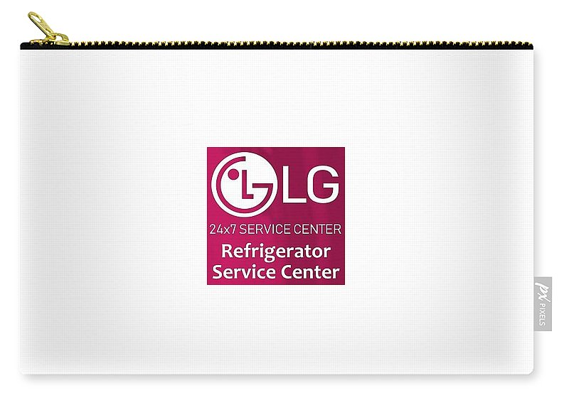 Lg Refrigerator Service Center In Delhi Carry-all Pouch featuring the mixed media Lg Refrigerator Service Center by In Delhi