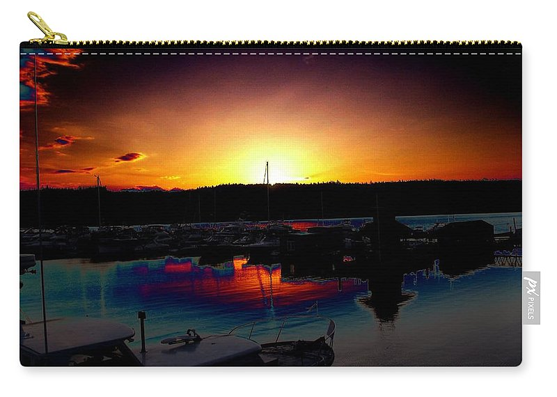 Sunset Carry-all Pouch featuring the photograph Liberty Bay Sunset by Tim Allen