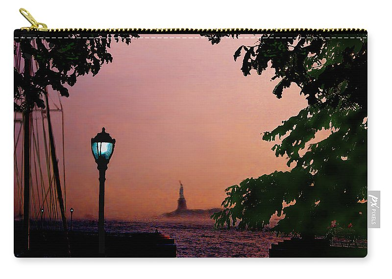 Seascape Carry-all Pouch featuring the digital art Liberty Fading Seascape by Steve Karol