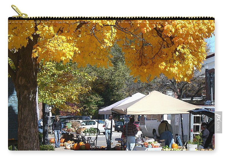 Fall Carry-all Pouch featuring the photograph Liberty Farmers Market by Steve Karol