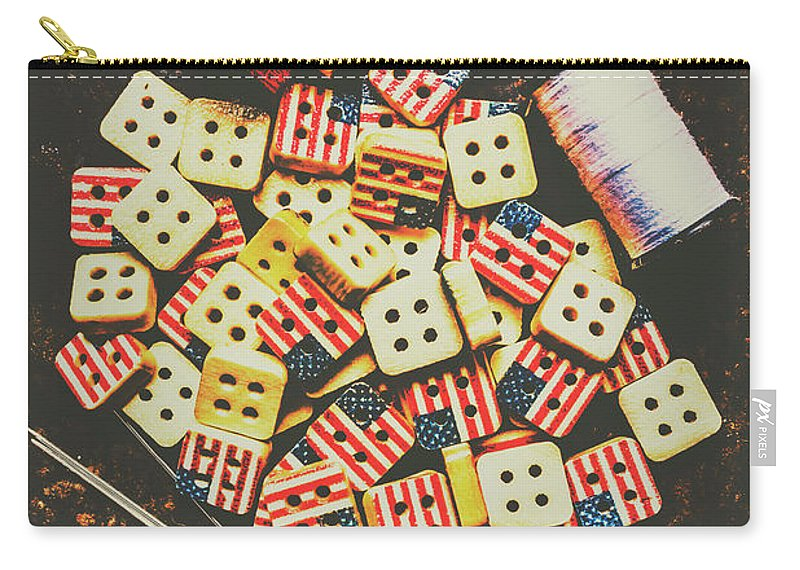 Craft Carry-all Pouch featuring the photograph Liberty In Patchwork by Jorgo Photography - Wall Art Gallery