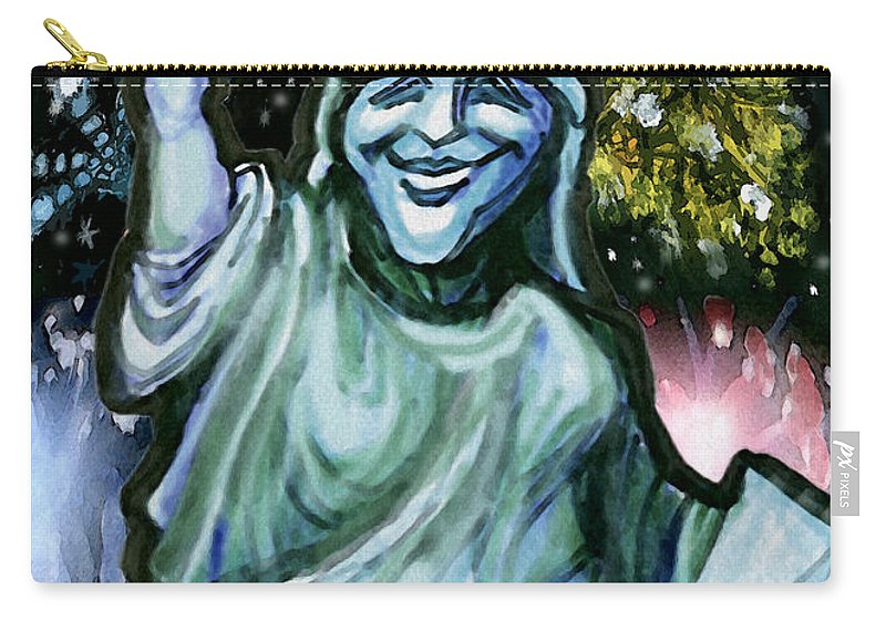 Liberty Carry-all Pouch featuring the painting Liberty by Kevin Middleton