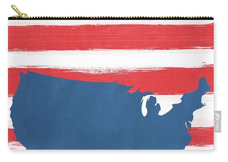 Liberty Carry-all Pouch featuring the painting Liberty by Linda Woods
