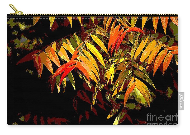 Digital Photographic Art Carry-all Pouch featuring the photograph Library Leaves by Norman Andrus