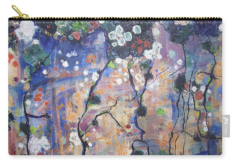 Lichen Paintings Carry-all Pouch featuring the painting Lichen by Seon-Jeong Kim