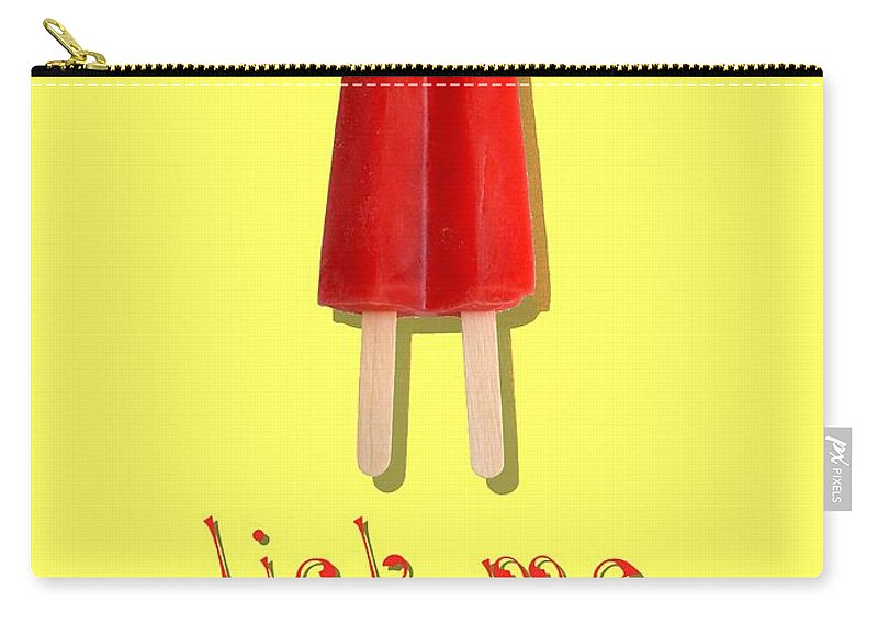 Lick Carry-all Pouch featuring the digital art Lick Me Popsicle Tee by Edward Fielding