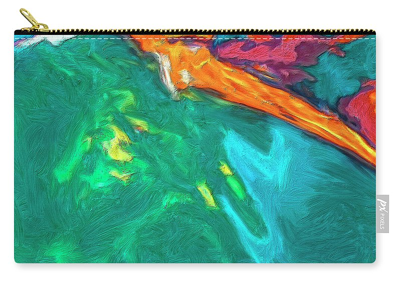 Abstract Carry-all Pouch featuring the painting Lies Beneath by Dominic Piperata
