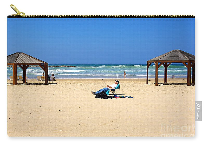 Beach Carry-all Pouch featuring the photograph Life After 60.. by Zal Latzkovich