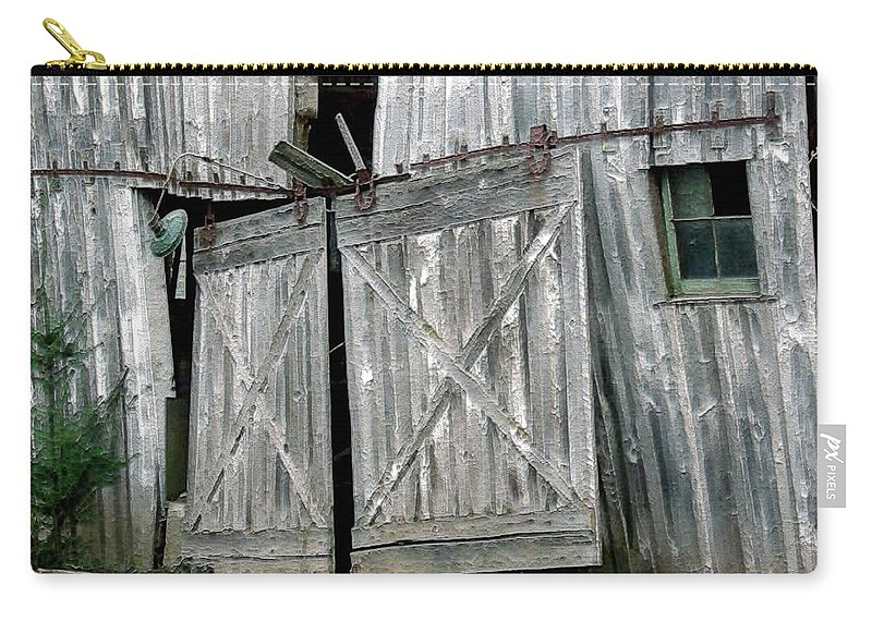 Barn Carry-all Pouch featuring the digital art Life Among The Ruins by RC DeWinter