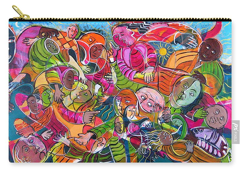 Life Carry-all Pouch featuring the painting Life And Death by Rollin Kocsis