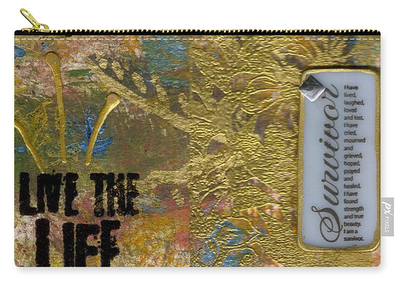 Understanding Carry-all Pouch featuring the mixed media Life As You Imagined It by Angela L Walker