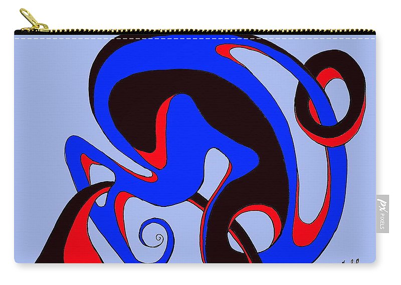 \ Carry-all Pouch featuring the digital art Life circuits by Helmut Rottler