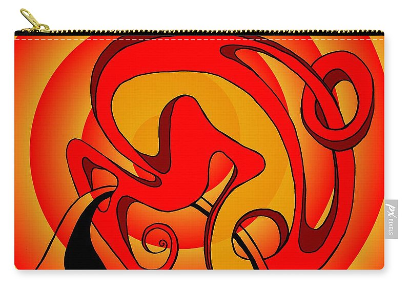 Lifecircuits Carry-all Pouch featuring the digital art Life Circuits- The Symbiosis by Helmut Rottler