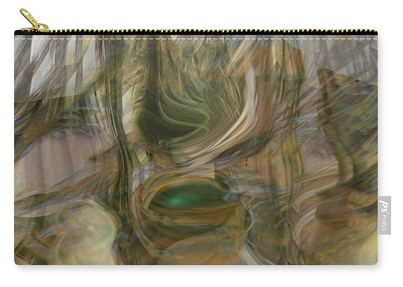 Abstract Art Carry-all Pouch featuring the digital art Life Forms by Linda Sannuti