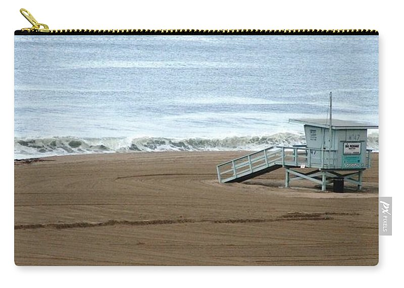 Beach Carry-all Pouch featuring the photograph Life Guard Stand - Color by Shari Chavira