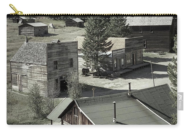 Ghost Towns Carry-all Pouch featuring the photograph Life In A Ghost Town by Richard Rizzo