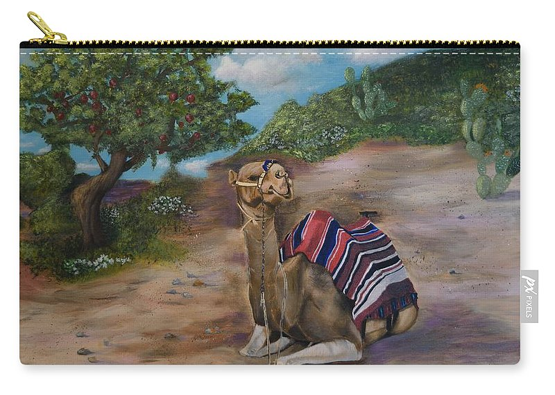 Israel Carry-all Pouch featuring the painting Life In Israel by Donna Cook