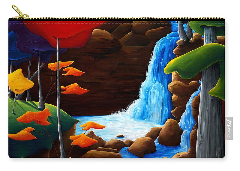 Landscape Carry-all Pouch featuring the painting Life In Progress by Richard Hoedl