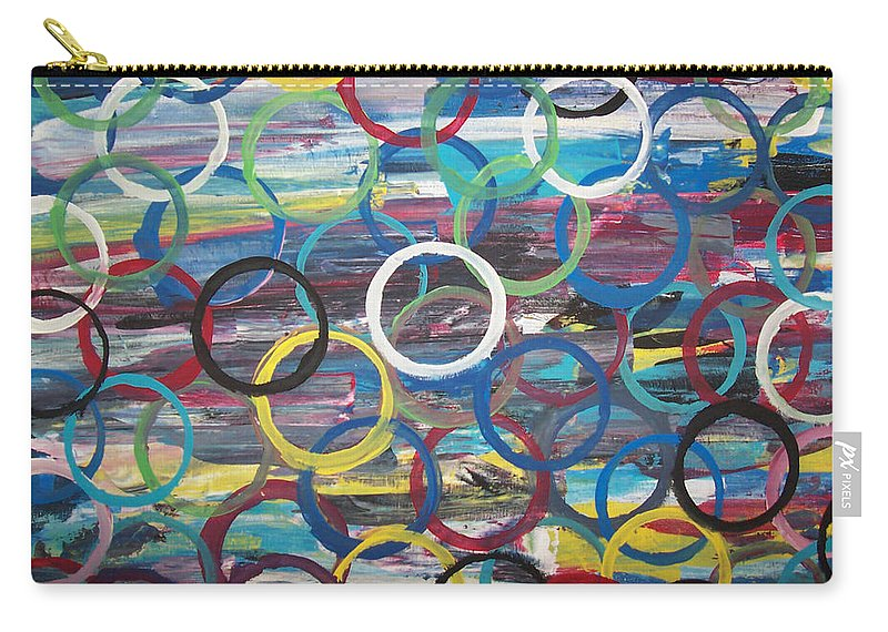 Abstract Carry-all Pouch featuring the painting Life In The Fast Lane by Tami Parrington