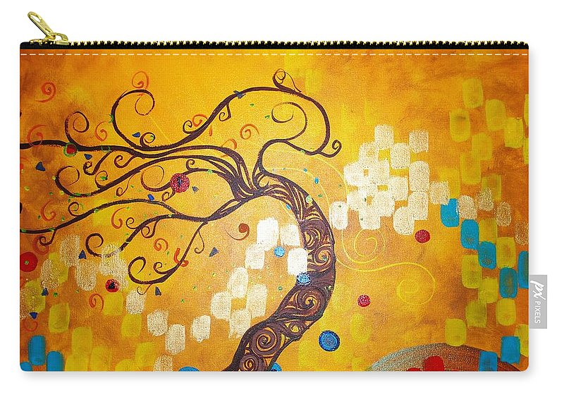 Carry-all Pouch featuring the painting Life is a Ball by Stefan Duncan