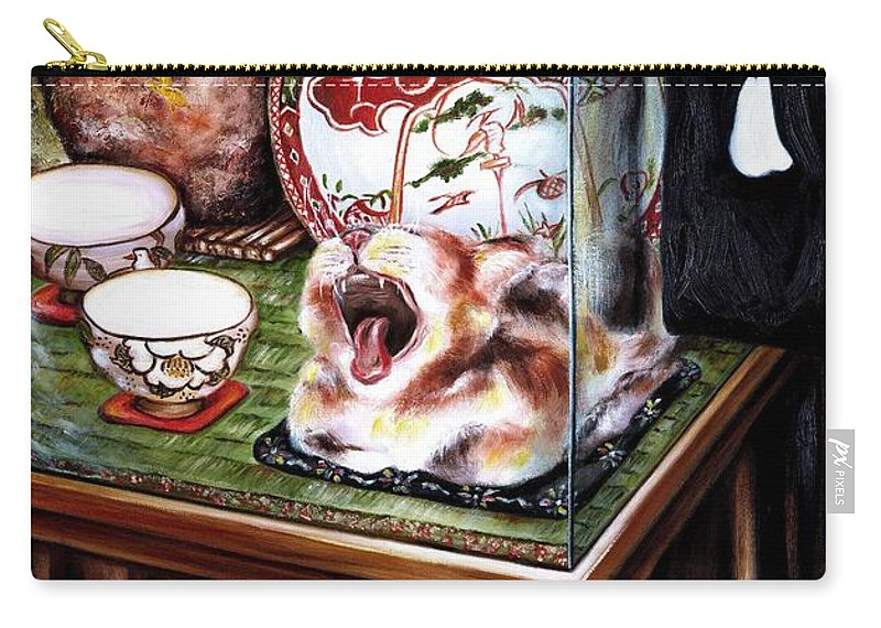 Cat Carry-all Pouch featuring the painting Life Is Beautiful by Hiroko Sakai