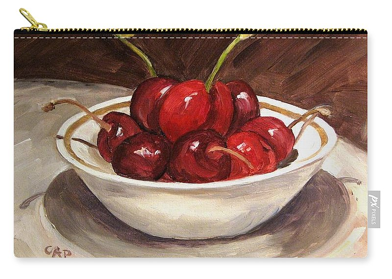 Contemporary Realism Carry-all Pouch featuring the painting Life Is Just A.... by Cheryl Pass