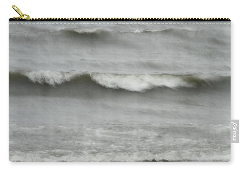 Coastal Carry-all Pouch featuring the photograph Life Is Like A Wave by Karol Livote
