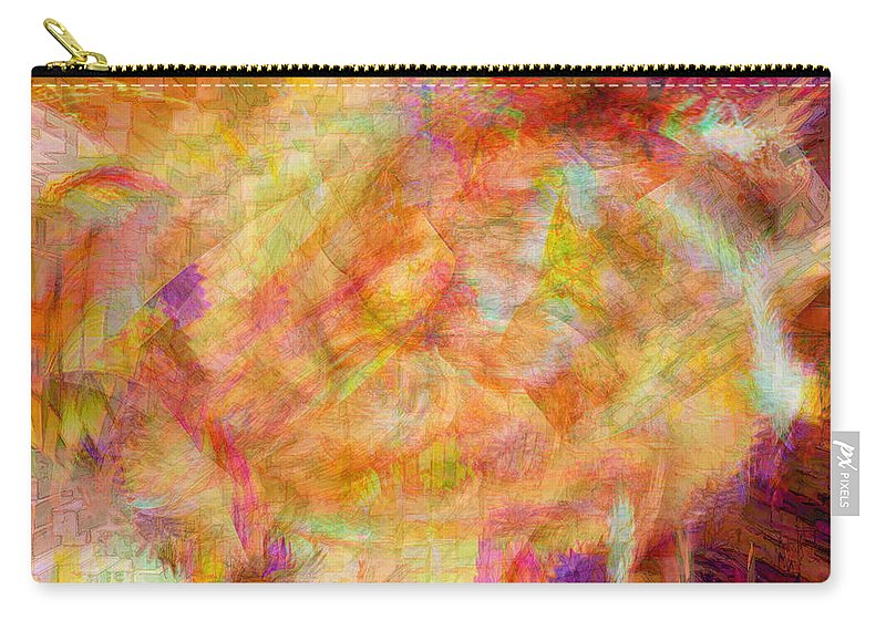 Abstracts Carry-all Pouch featuring the digital art Life by Linda Sannuti