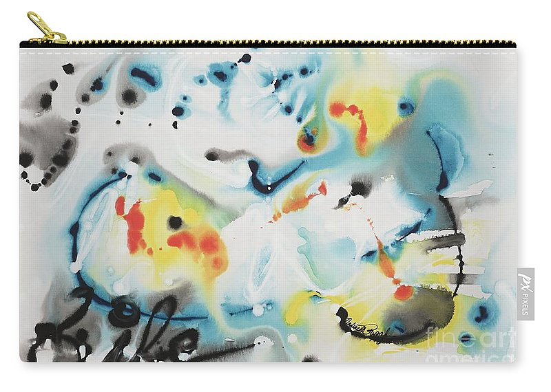 Life Carry-all Pouch featuring the painting Life by Nadine Rippelmeyer