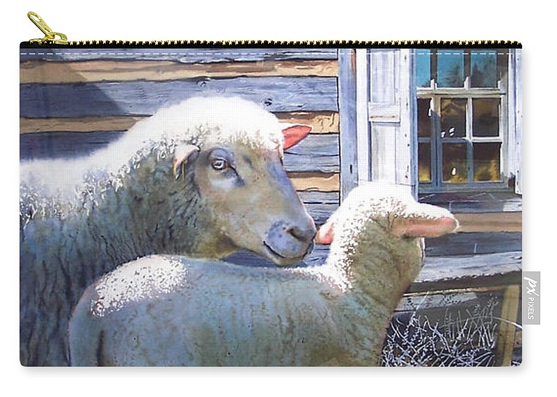 Sheep Carry-all Pouch featuring the painting Life Renewed by Denny Bond
