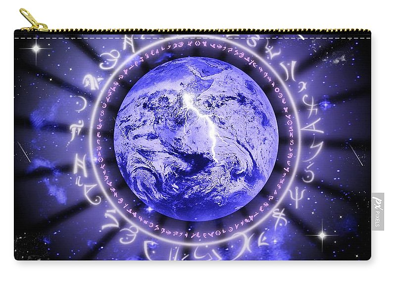 Life Carry-all Pouch featuring the digital art Life by Rhonda Barrett