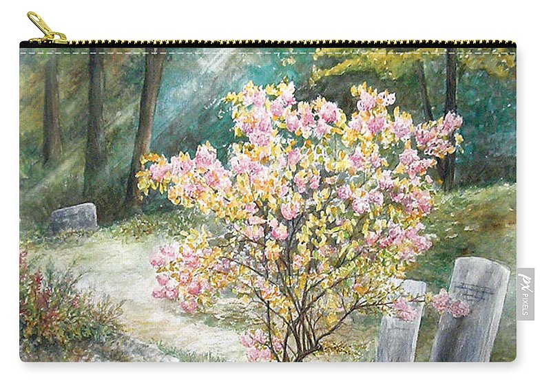 Landscape Carry-all Pouch featuring the painting Life by Valerie Meotti