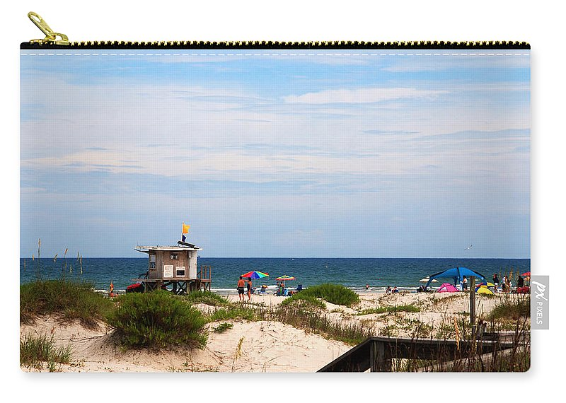 Lifeguard On Duty Carry-all Pouch featuring the photograph Lifeguard On Duty by Susanne Van Hulst