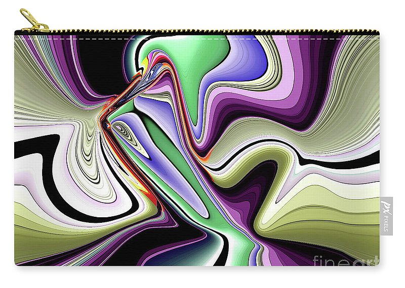 Abstract Art Carry-all Pouch featuring the digital art Life's Creation by Iris Gelbart
