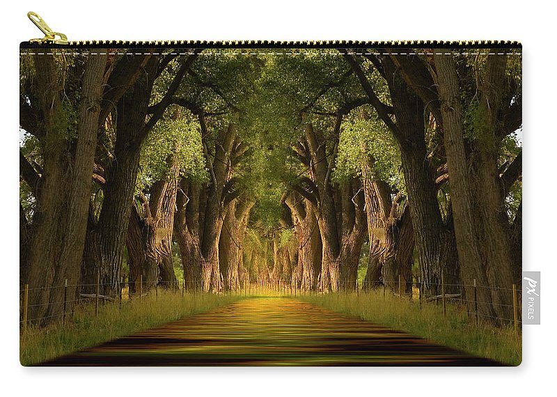 Cottonwood Carry-all Pouch featuring the photograph Life's Journey by Jerry McElroy
