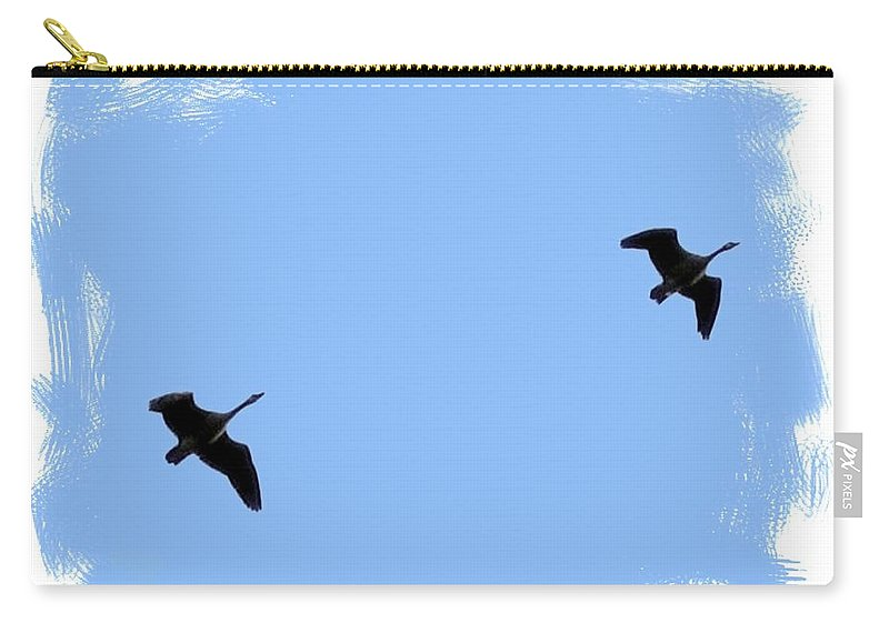 Canada Geese Carry-all Pouch featuring the photograph Lifetime Accord by Will Borden