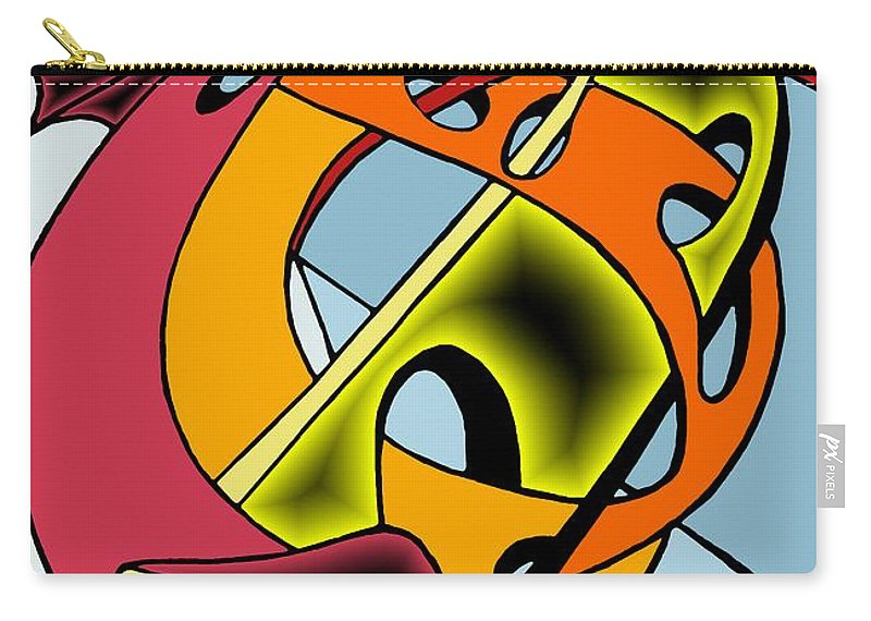 Lifeways Carry-all Pouch featuring the digital art Lifeways by Helmut Rottler