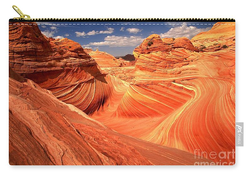 The Wave Carry-all Pouch featuring the photograph Light And Dark At The Wave by Adam Jewell