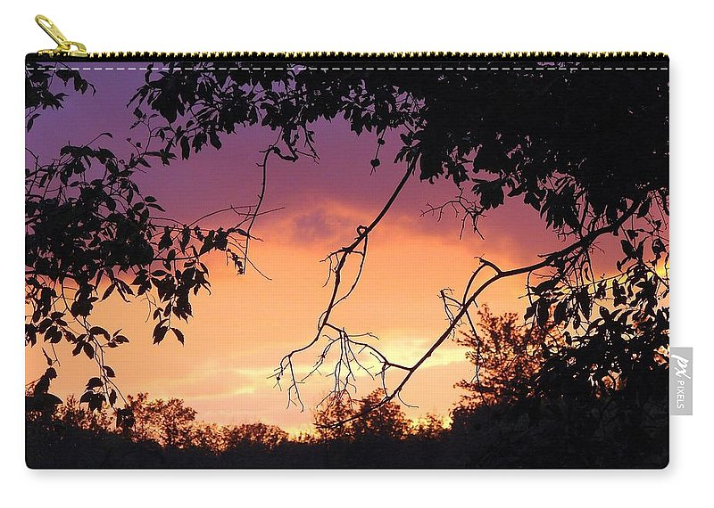 Storm Carry-all Pouch featuring the photograph Light At The End Of The Storm by J R Seymour