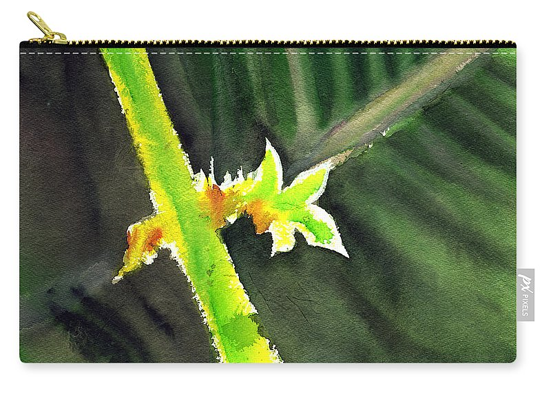 Water Color Carry-all Pouch featuring the painting Light Branch by Anil Nene