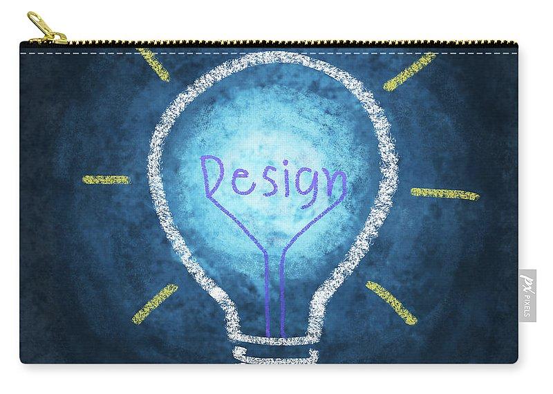 Art Carry-all Pouch featuring the photograph Light Bulb Design by Setsiri Silapasuwanchai