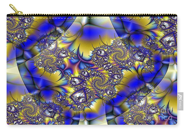 Light Carry-all Pouch featuring the digital art Light Dark Intersect by Ron Bissett